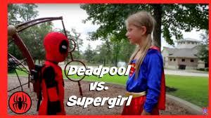 fat kid halloween costume little heroes kid deadpool vs supergirl real life superhero battle