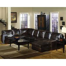 Most Comfortable Sofas by Rc Willey 3 Piece Dark Tobacco Leather Sectional Honestly