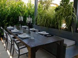 Patio Dining Set With Bench - photos the outdoor room with jamie durie jamie durie home