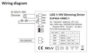 0 10v 1 10v led dimmer series 100v 240vac 350ma 500ma
