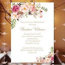 printable bridal shower invitations bridal shower invitation template blossoms printable diy