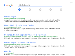 new google homepage design hello google homepage project redesign on behance