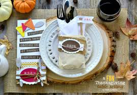 Thanksgiving Table Setting by A Fun Thanksgiving Table Setting Idea Fork And Beans