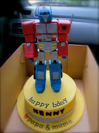 optimus prime birthday cake pasteles