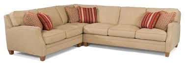 Flexsteel Curved Sofa by Flexsteel Lenox Three Piece Sectional Sofa With Laf Loveseat