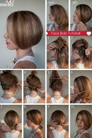 hairstyles short on top long on bottom hair tutorial how to create a faux bob faux bob bobs and bob braids