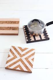 great kitchen gifts diy geometric wood trivets wall decor woods and kitchens