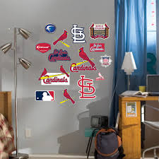 junior st louis cardinals logo wall decals