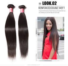Inexpensive Human Hair Extensions by Julia 100 Malaysian Human Straight Virgin Hair Bundles 3pcs Thick