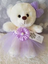 flower girl teddy gift flower girl gift teddy in lavender tutu dress color the