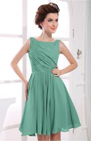 mint green party dress casual a line sabrina zipper chiffon