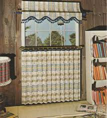 retro kitchen curtains of 1970s woven wood roman throughout