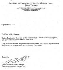 recommendation letter sample for construction workers cover