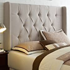 bedroom stunning upholstered headboard design for white full size