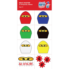 ninjago party supplies ninjago party supplies master temporary tattoos party favors
