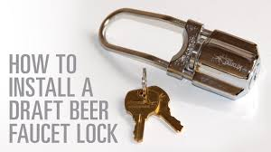 Perlick Beer Faucet 650ss With Flow Control by How To Install A Draft Beer Facuet Lock Youtube