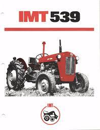 prospectus brochure tracteur tractor traktor prospekt imt 542 de