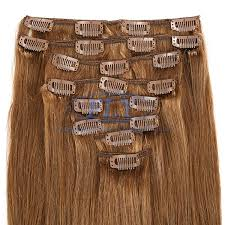 clip hair canada 16 inches clip in hair extensions canada color 8 light brown