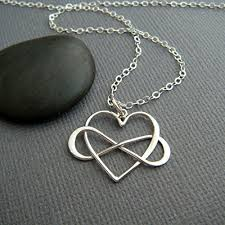 handmade silver charm necklace images Everyday you change the world sterling silver infinity heart jpg