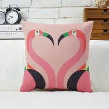 flower bird tropical throw pillows for living room flamingo
