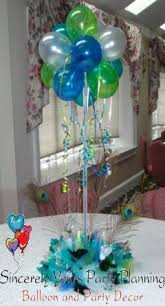 sweet 16 table centerpieces peacock theme centerpieces sweet 16 quinceanera birthday balloon