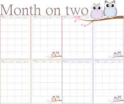 printable 2017 calendar two months per page free printable calendars two months per page calendar 2018 printable