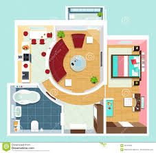 apartment floor plan top view stock illustration image 42790663