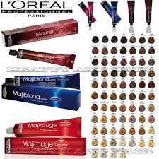 Black Hair Color Chart L U0027oreal Professional Majirel Majiblond Majirouge Long Lasting Hair