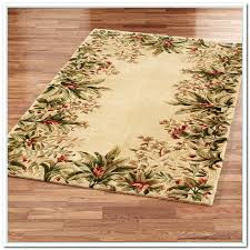 Area Rugs Tropical Tropical Area Rugs Light Brown Square Floral Borders Wool Carpet