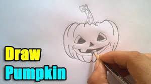 halloween pumpkins cartoons how to draw a pumpkin for halloween 2016 youtube