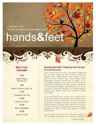 tree in autumn church newsletter template template newsletter