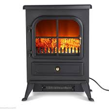 finether log burning flame effect 1850w electric fire heater