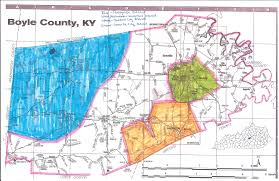 Time Zone Map Kentucky by Boyle County Schools District