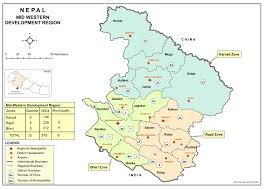 Map Of Nepal And China by Our Development Regions Kullabs Com