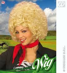 Blonde Curly Afro Wig Dolly Parton Country And Western Singer