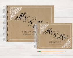 wedding registry book custom guest book etsy