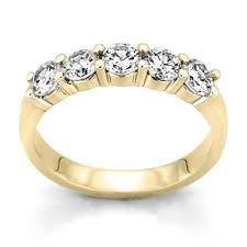 gold diamond band 0 25 ct t w 5 diamond band in 14k yellow gold h i