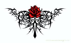tribal tattoo with roses x free images at clker com vector