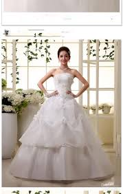 wedding dress korean new arrival korean appliques bra wedding dresses lace up satin mid