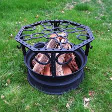 Fire Pit Ideas Pinterest by Western Fire Pit Made Out Of A Tire Rim Horse Shoes And Fence