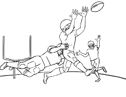 free printable football awesome football coloring pages coloring