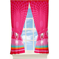 Childrens Curtains Girls Baby Nursery Decorative Window Curtains For Room Decors Pink