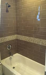 brown glass subway tile for bathroom shower home pinterest