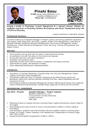 corporate resume format mnc resume format sles for web designer fresher marketing