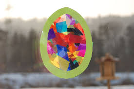 Decorating Easter Eggs With Tissue Paper by Kids Easter Crafts Ideas