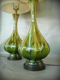 vintage drip glaze l drip glaze l vintage mid century l pair ceramic drip glaze