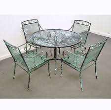 Wrought Iron Patio Table Set Vintage Mid Century Modern Wrought Iron Patio Dining Set Table