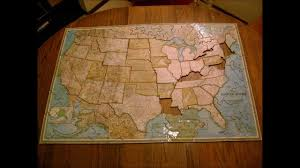 United States Map Puzzle by Large Homemade Puzzle Of The United States Youtube