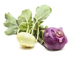 Green Root Vegetable - kohlrabi root vegetable or cabbage