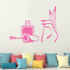 beauty salon stickers promotion shop for promotional beauty salon nail polish beauty salon girls bedroom wall art stickers decals vinyl home room e667
